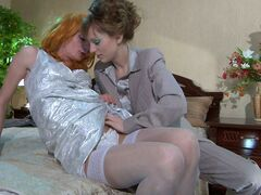 Ninette&Silvester strapon pussyclothed sex movie